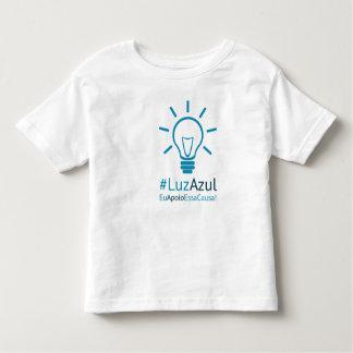 Camiseta #LuzAzul infantil