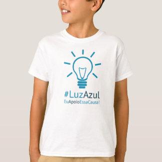 Camiseta #LuzAzul infanto juvenil masculina