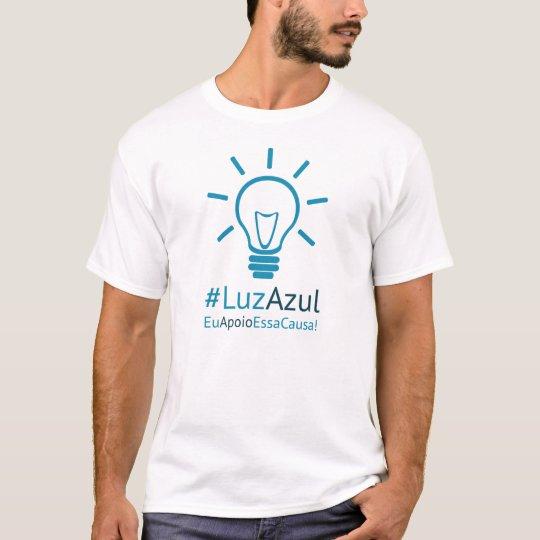 Camiseta #LuzAzul masculina
