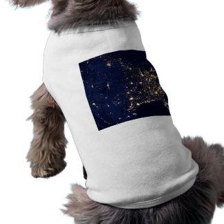 Camiseta Luzes da NASA do espaço EUA