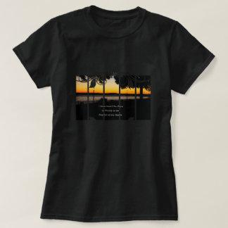 Camiseta Luzes do parque no t-shirt ocidental do abrigo