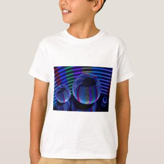 Camiseta Luzes espirais no cristal