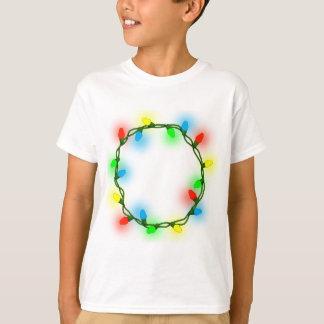 Camiseta Luzes redondas do Natal