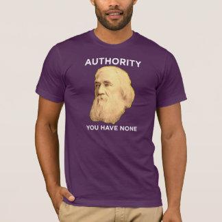 Camiseta Lysander Spooner nenhuma autoridade