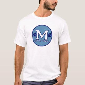 Camiseta M é para Manx