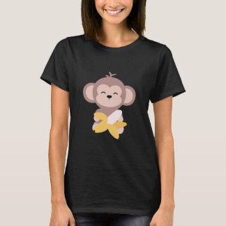 Camiseta Macaco bonito de Kawaii com t-shirt da banana