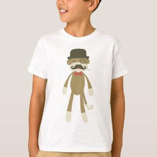 Camiseta macaco com bigode & Tophat