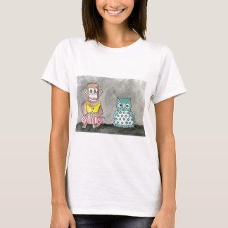 Camiseta Macaco e coruja de noite de aplauso