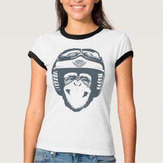 Camiseta Macaco feliz de Moto (ardósia)