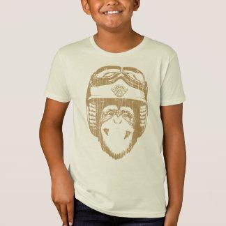 Camiseta Macaco feliz de Moto (ouro do vintage)