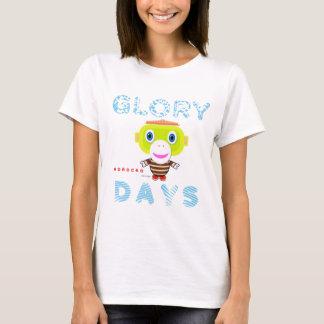 Camiseta Macaco-Morocko Dia-Bonito da glória