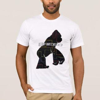 Camiseta Macaco preto do teste padrão