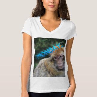 Camiseta Macaco triste sobre segunda-feira