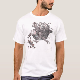 Camiseta Macacos do carregando do porco do vôo!