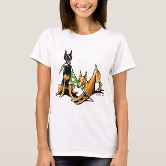 Camiseta Maçãs do Pinscher diminuto n