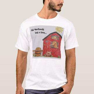 Camiseta MacDonald velho teve uma fazenda