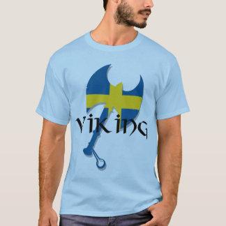 Camiseta Machado da bandeira da suecia de Viking do sueco