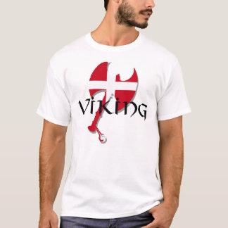 Camiseta Machado da bandeira de Viking Dinamarca do