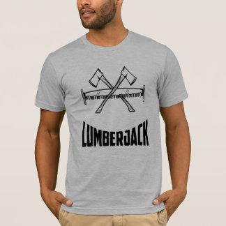 Camiseta Machado & serra do registador do lenhador