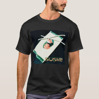 Camiseta Macio. Cada dia, preto, SUSHI!