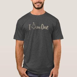 """Camiseta Maçonaria """"eu sou um"""" compasso quadrado"""