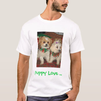 Camiseta Maddie&Sophie, amor de filhote de cachorro…