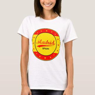 Camiseta Madrid, Spain, circle, red