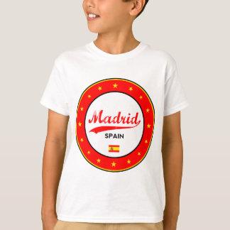 Camiseta Madrid, Spain, circle, white