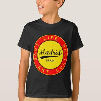 Camiseta Madrid, Spain, red circle, art