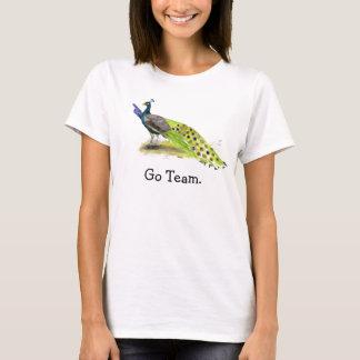 Camiseta Madrinha de casamento do casamento do pavão