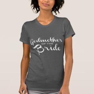 Camiseta Madrinha do branco da noiva no cinza