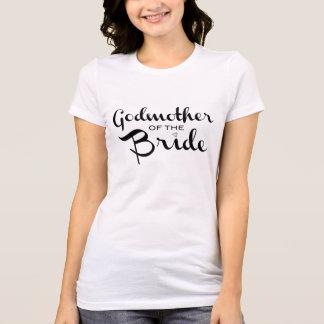 Camiseta Madrinha do preto do T da noiva