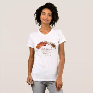 Camiseta Mãe alaranjada da grinalda do casamento outono do