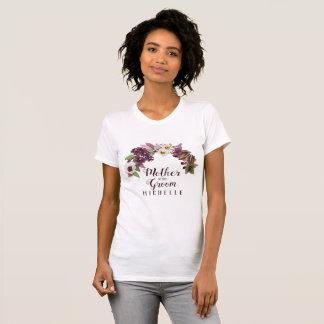 Camiseta Mãe da ameixa da grinalda do casamento outono do