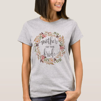 Camiseta mãe da grinalda floral -2 da noiva