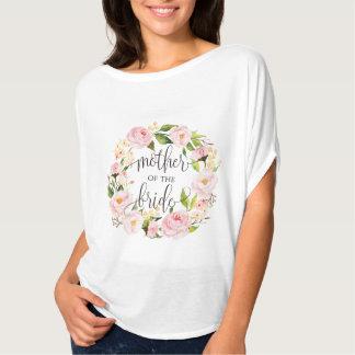 Camiseta mãe da grinalda floral -5 da noiva