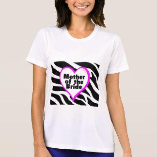 Camiseta Mãe da noiva (impressão da zebra do coração)