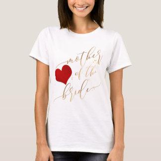 Camiseta Mãe de PixDezines do roteiro da noiva/ouro do