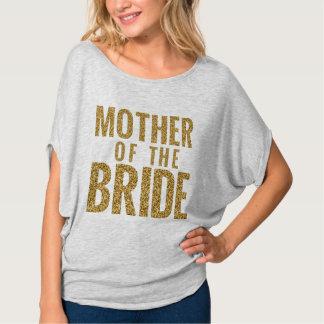 Camiseta Mãe do bloco simulado ponte do brilho do ouro