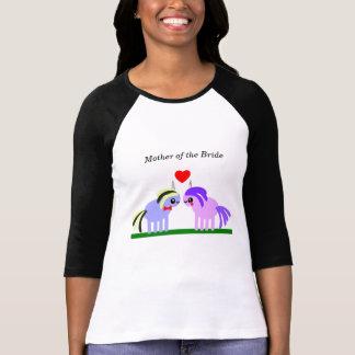 Camiseta Mãe do casamento do unicórnio da noiva
