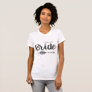 Camiseta Mãe do t-shirt da seta da noiva