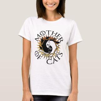 Camiseta Mãe do t-shirt dos gatos