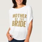 Camiseta Mãe do T Slouchy da FAÍSCA do ouro da noiva