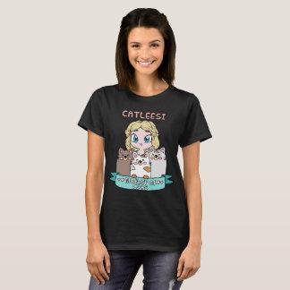 Camiseta Mãe do Tshirt bonito de Kawaii dos gatos para