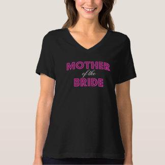 Camiseta Mãe Glam do rosa quente do t-shirt da noiva