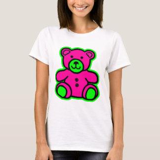 Camiseta Magenta do verde do urso de ursinho os presentes