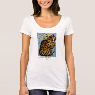 Camiseta mágica da fada de Ocicat do gato