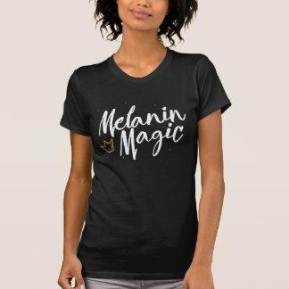 Camiseta Mágica da melanina com coroa do ouro - T preto da