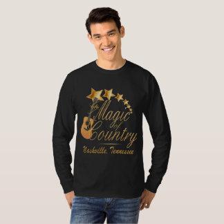 Camiseta Mágica de Nashville do t-shirt longo da luva do