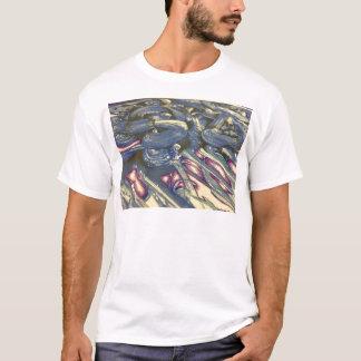 Camiseta Mágica de Printmaking nos azuis e nos roxos